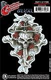 D'Addario GT77008 Tattoo per Chitarra Planet Waves, Teschio con Pugnale e Rose