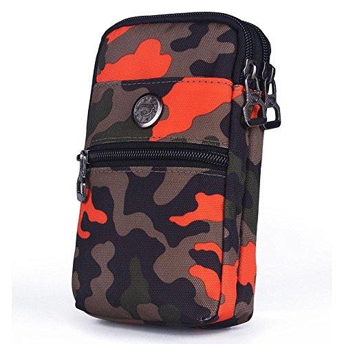 BUSL Wandern Hüfttaschen Außentaschen Handy-Paket 6-Zoll-Multi-Funktions-Reise Schulter Messenger Bag Taschen weiblich Sport C