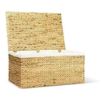 ambico Wäschetruhe TOBIAS - Wäschesammler - Wäschebox. inkl. 3-teiligem Wäschesack aus Baumwolle - 85x56x41 cm und 85x41x56 cm (L/B/H) - 190 Liter - Wäschesortierer - Premium Wäschekorb