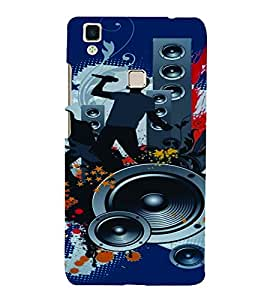PrintVisa Music Modern Art 3D Hard Polycarbonate Designer Back Case Cover for Vivo V3 MAX