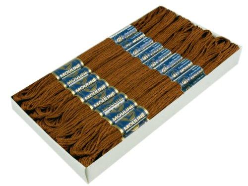 1-Docke-Stickgarn-Sticktwist-100-Baumwolle-Nr-7882-Lederbraun