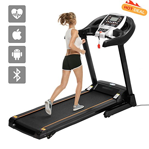51omQVOND4L. SS500  - ANCHEER S8500 Treadmill APP Control, New Electric Motorised Treadmill Machine Folding Running Machine with 2 Levels Manual Incline