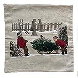 Kissenbezug Winterkinder - Weihnachten ca 40 x 40 cm Kissenhülle Winter