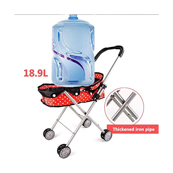 Freedomanoth Baby Dolls Pram Pink Children's Doll Trolley DIY Assembled Baby Buggy Portable Doll Carrier Pram Boys And Girls Toy Cart Role Pretend Play Nursery Toys Freedomanoth Portable storage design: It can be brought to the supermarket with the baby, which does not occupy place. It is suitable for travel. Large capacity storage space: It can store some small snacks or small toys for baby going out. Sturdy and durable, exquisite design: It features a thickened iron frame and a exquisite design, fine craftsmanship and selected high-quality materials, and environmentally friendly lacquering process, so that baby can rest assured to play. 5