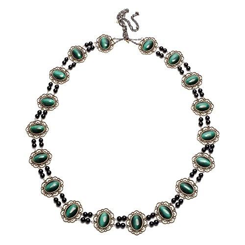 GRACEART Tudors Dynastie Halskette Kette von Büro Livree Halsband (Kaiserlich Grün)