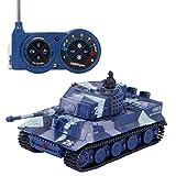 SGILE 1:72 Mini RC Tank Toy with Remote Control German Tiger Panzer Tank for Kids, Grey