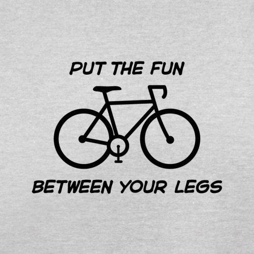 Put The Fun Between Your Legs (Cycling) - Herren T-Shirt - 13 Farben Hellgrau