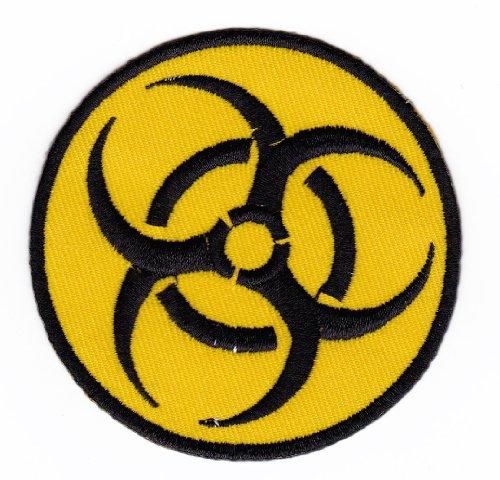 Tasche Biohazard Kostüm - Aufnäher Bügelbild Aufbügler Iron on Patches Applikation Biohazard