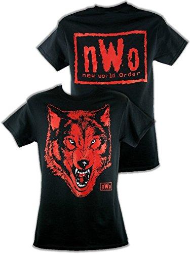 CAGO T-Shirt NWO Wolfpac Schwarz Rot Retro Bis 5XL !, Gr.:XXL - Nwo-t-shirt