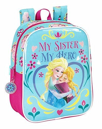 """Disney Frozen, Rucksack, 27x 22x 10cm - 611515232 mit dem Motiv der """"Eiskönigin"""" und englischsprachiger Aufschrift: """"My Sister My Hero"""""""