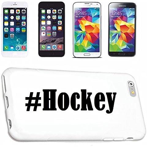 cubierta del teléfono inteligente Samsung S5 Mini Galaxy Hashtag ... #Hockey ... en Red Social Diseño caso duro de la cubierta protectora del teléfono Cubre Smart Cover para Samsung Galaxy Smartphone … en blanco ... delgado y hermoso, ese es nuestro hardcase. El caso se fija con un clic en su teléfono inteligente