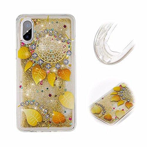 iPhone X Hüllen, MingKun TPU Soft Muster Transparent Bling Glitzer Schutzhülle für...