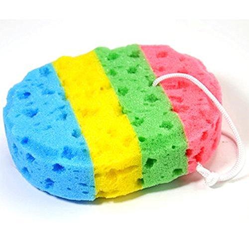 Body Bath - Esponja de baño para niños, color arcoíris