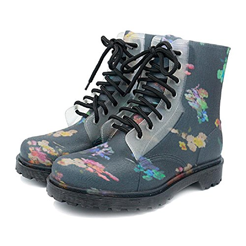 Mode Martin Bottes de pluie Résistant à l'usure Chaussures de randonnée eau Blue
