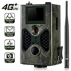 Caméra de Chasse 4G 3G Trail Camera 16MP 1080P IP66 Étanche avec 940nm Darkness LEDs Vision Nocturne 100ft/30m Camera Detecteur de Mouvement Animaux pour la Surveillance de la Faune et la Sécurité