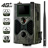 SunTek 4G 3G 2G Cámara de Caza MMS SMS GPRS 16 MP 1080P Full HD Trail Cámara de Vigilancia, IP65 Impermeable,40pcs IR Leds Visión Nocturna con hasta 90pies, HC330LTE