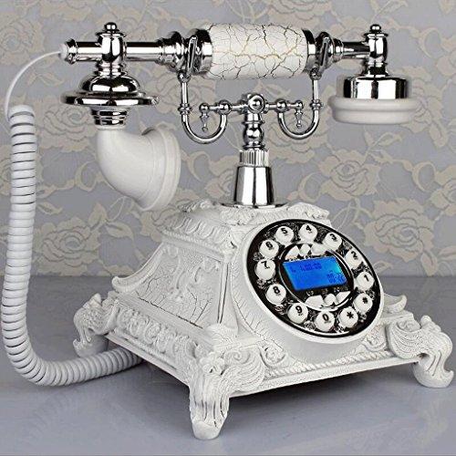 Hongyan phone quadrante rotante in metallo antico telefono vintage europeo soggiorno camera da letto retro telefono fisso suonerie meccaniche yhx (colore : backlight-c)
