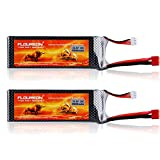 FLOUREON 11.1V 2200mAh 3S 25C Lipo RC Battery Rechargeable RC Battery with XT60 Plug for RC Racing Airplane Helicopter Car Truck Boat Traxxas Slash DJI Phantom Flame Kyosho Racing Truck (2pack)