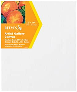 "Reeves 12"" x10"" Gallery Canvas Triple Pack"