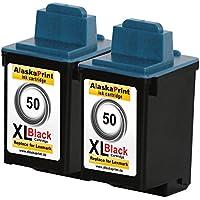 Premium 2x cartucce di inchiostro compatibile con Lexmark 50 XL