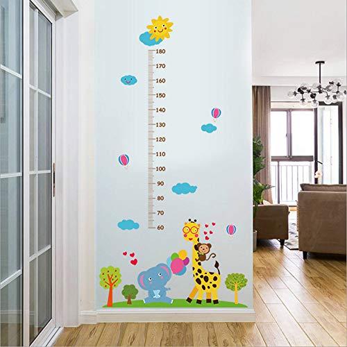 ALiYangYang 2 Stücke Giraffe Elefanten affenhöhe Aufkleber Cartoon Kunstwerk leuchtende Wandtapete für Kindergarten Kinderzimmer Eingang Hintergrund Wand Dress Up (Dress Giraffe Up)