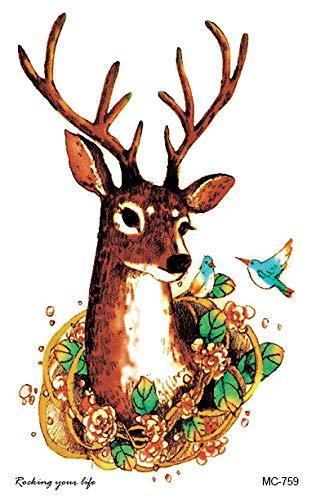 HXMAN 3pcs Neue Temporäre Tattoo Aufkleber Fantasy Farbe Freiheit Vogel Phoenix Hot Große Tier Wasserdicht Eblauf Blume Arm Tattoo Für Frauen Männer Kinder MC-759