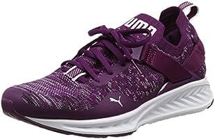 Puma Ignite Evoknit Lo, Chaussures Multisport Outdoor Femme, Violet (Dark Purple-White-Black), 39 EU