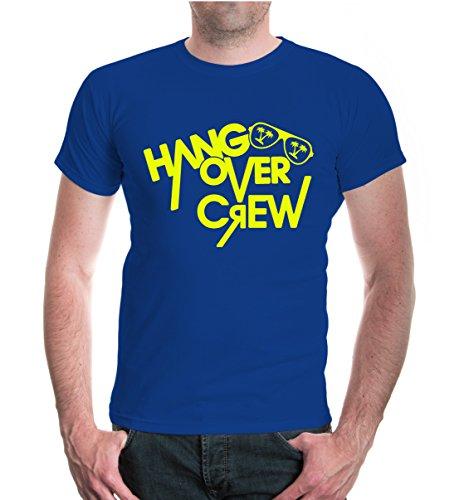 buXsbaum® T-Shirt Hangover-Crew Royal-Neonyellow