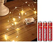 DesiDiya 3AA Battery Operated Copper String Decorative Fairy Lights Diwali Christmas Festival LED Fairy Lights