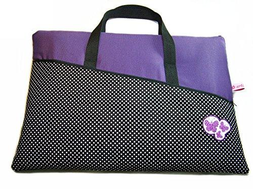 Tablet Netbook Notebook Tasche Lila Butterfly mit Henkel und Außenfach, Maßanfertigung (Sleeve Lila Macbook)