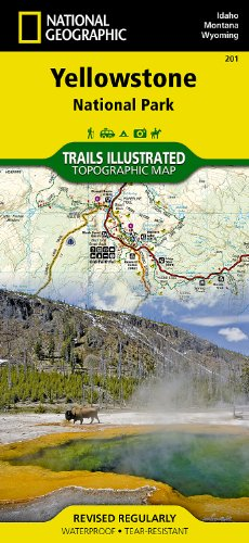 Yellowstone National Park: Wyoming, Montana, Idaho, USA: NG.NP.201 (Trails Illustrated Map)