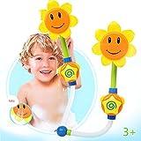 Jouets de bain de bébé jouets de fontaine de baignoire à remous de douche d'eau de tournesol pour des enfants - Autumnwind