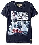 Garcia Kids Jungen T-Shirt O63402, mit Print, Gr. 140 (Herstellergröße: 140/146), Blau (Blueprint 1729)