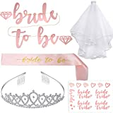 ArtiDeco Bachelorette Party Bride to Be Accessoires Set Junggesellenabschied Braut Schärpe Schleier Hen Party Zubehör Kit (Set-1)
