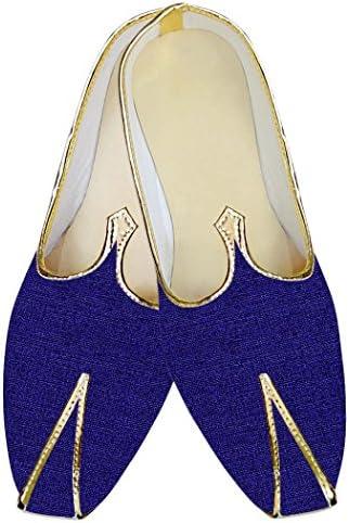 INMONARCH Azul Hombres Zapatos de Boda Novios MJ014147