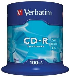 Verbatim Extra Protection CD-R 80min/700MB/52x - 100er Spindel (B00009QPN0) | Amazon price tracker / tracking, Amazon price history charts, Amazon price watches, Amazon price drop alerts