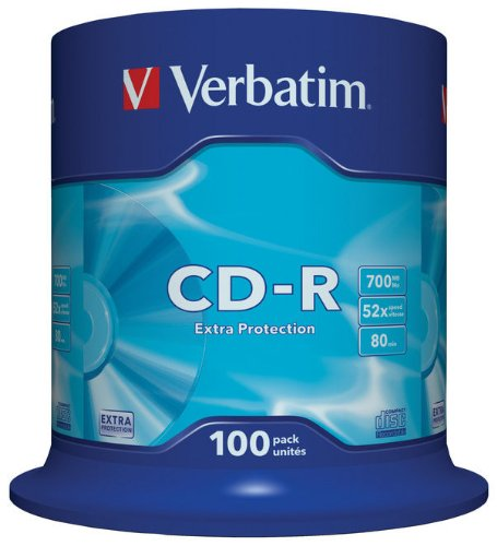 Verbatim 43411 700MB 52x Extra Protection CD-R - 100 Pack Spindle Test