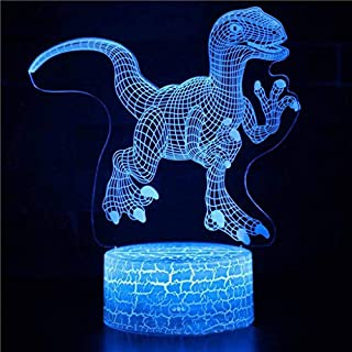 I will take action now Dinosaur 3D night light LED colorful gift table lamp remote control colorful touch creative promotional activities small gift lamp bedside atmosphere table lamp I will take acti