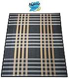 Hogar y Mas Alfombra DE Bambu Natural para Salon/Comedor, Columbia Color Negra, 180 X 250 CM