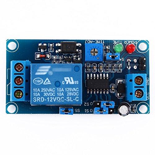 12 V DC Modul, Verzögerung der Relais mit Timer, Ein- und Ausschaltmodul Multifunktions Delay Time Modul Steuerungsschalter Relaismodul -