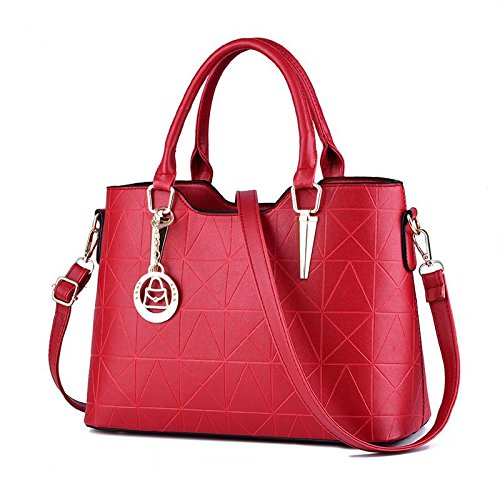 Hqyss Ladies Handbags Sweet Lady Atmospheric Fashion Pu In Pelle Da Donna Tracolla Messenger Vino Rosso