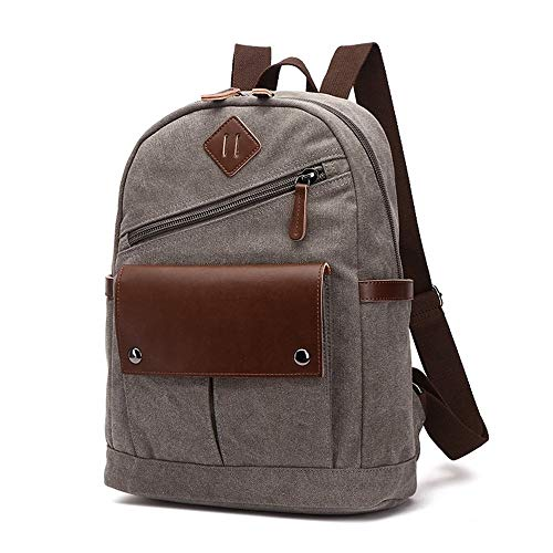 YIXUN Vintage Laptop Rucksack, Zoll Laptop Rucksack Durable Business College Travel Daypacks