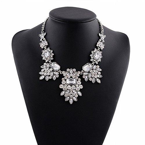 Griechisch für Frauen Götter Ägyptischen Falschen Kragen Übertrieben Kurzen Diamant Halskette für Frauen Mode Lange Bekleidungszubehör , Weiß (Kragen ägyptische Halskette)