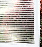 Concus-T Selbstklebend Statische Fensterfolie Sichtschutzfolie Streifen Folie für Büro Ohne Klebstoff 90x200cm
