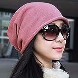 Sombrero de Mujer Ms Cap Algodón Turban Gorros Gorros Gorros Gorros de Cabeza Mujeres Embarazadas Sombreros Gorros de Pareja Sombreros de Punto (Color : Rosado, tamaño : -)