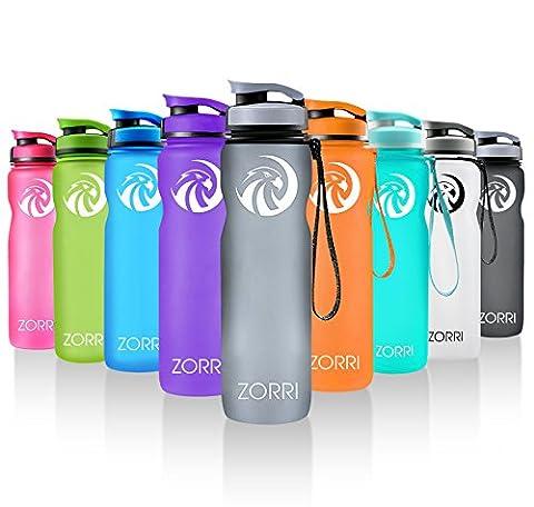 ZORRI Sport Trinkflasche Wide Mouth Wasserflasche aus Tritan 600ml &