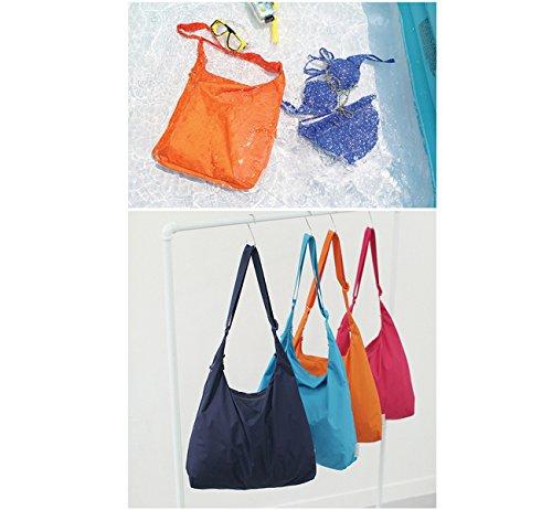 Sumolux Borsa Spesa Pieghevole Impermeabile Shopping Borsone Raccoglitore a Tracolla Casual Outdoor da Viaggio Campeggio arancione
