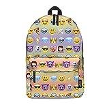 fringoo® Coussin arc-en-ciel filles garçons enfants sac à dos sac d'école sac à dos sac à dos Voyage bagages à main Coussin hologramme Sac Regular EMOJI RAINBOW