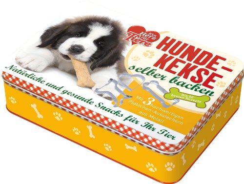 """""""Ein Herz für Tiere""""-Hundekekse selber backen: Natürliche und gesunde Snacks für Ihr Tier. Die 50 besten Rezepte mit 3 hochwertigen Plätzchen-Ausstechern aus Metall"""