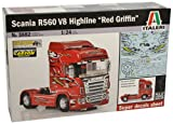 "Italeri 510003882 - 1:24 amion Scania R560 V8 Highline ""Rosso Griffin"""